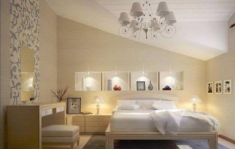 Dachschragen Beige Weiss Regale Wandnischen Deavita Wandnischen Schlafzimmer Dachschrage Kunstler Schlafzimmer