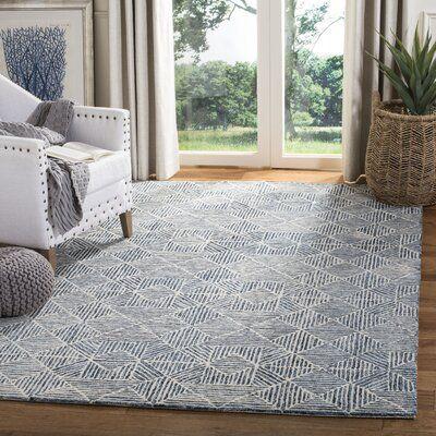 Joseph Hand Tufted Wool Light Blue Gray Area Rug Rug Size Rectangle 4 X 6 Blue Gray Area Rug Living Room Area Rugs Area Room Rugs