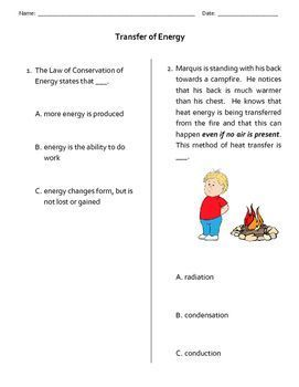 Law Of Conservation Of Energy Worksheet Answers - worksheet