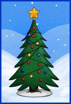 Better Drawing Christmas Tree Drawing Christmas Tree Drawing Easy Christmas Drawing