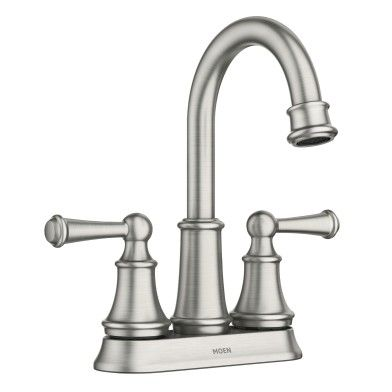 Brecklyn Two Handle High Arc Bathroom Faucet In Spot Resist
