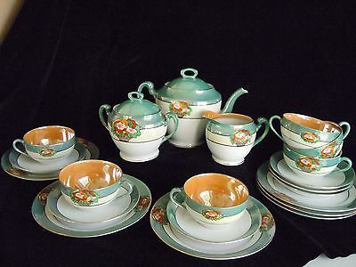 Wonderlijk Noritake Fine Porcelain Lusterware Tea Set c1911-1921 21 Piece Set RB-09