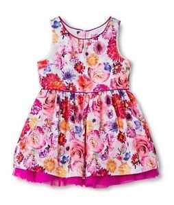 Pink/&Violet Girls Embroidered Floral Crinkle One Pc Romper
