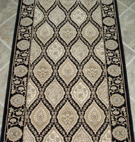 Amz163 Rug Depot Remnant Runners 32 X 3 8 Couristan Palladino Cbd6 0004a Black Black Background Mac Cheap Carpet Runners Area Rug Decor Area Rug Pad