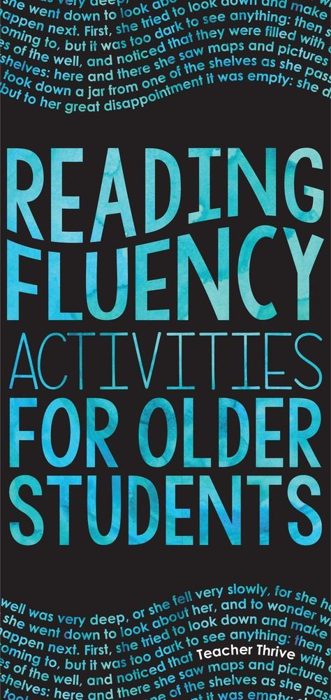 Reading Fluency Activities for Older Students