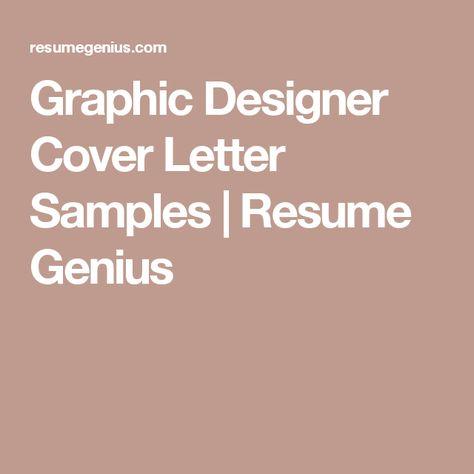 Graphic Designer Cover Letter Samples Resume Genius getting - graphic designer cover letter