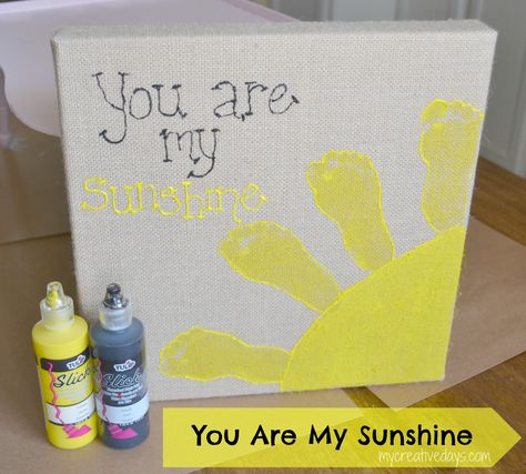 "mycreativedays: ""You Are My Sunshine"" Burlap Canvas"