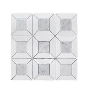 Jeff Lewis Benedict White 12 In X 12 In X 8 Mm Basket Weave Marble Wall And Floor Mosaic Tile 96794 The Home Depot Stone Mosaic Wall Mosaic Wall Tiles Mosaic