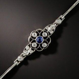 Edwardian Sapphire Platinum Diamond Bracelet 1 Beautiful Jewelry Vintage Jewelry Edwardian Jewelry