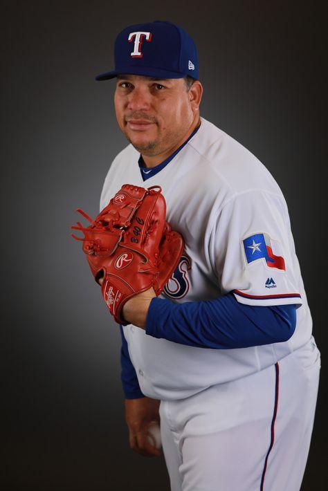 Bartolo Colon #40 of the Texas Rangers poses during Texas Rangers