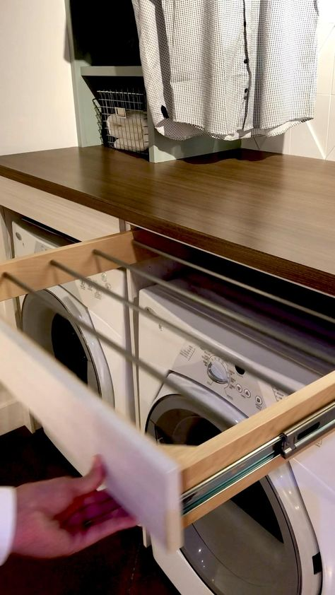 Pull-out Drawer Laundry Drying Rack