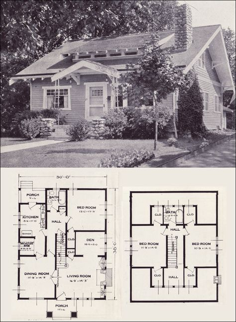 The Gladstone From 101 Modern Homes By Standard Homes Company 1923 House Plans Vintage House Plans Craftsman Style Bungalow