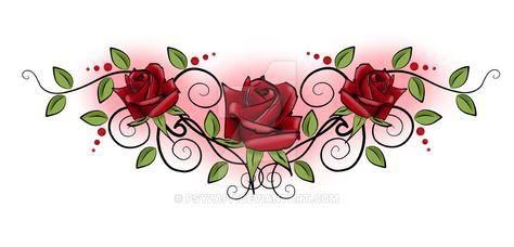 Rose Tramp Stamp by Psyzapp.deviantart.com on @DeviantArt