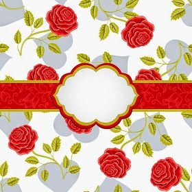 Selamat Undangan Pernikahan Vintage Gaya Mulus Kurva Mawar Bunga Tekstil Damask Pink Royal Latar Belakang Pol Undangan Pernikahan Undangan Bingkai