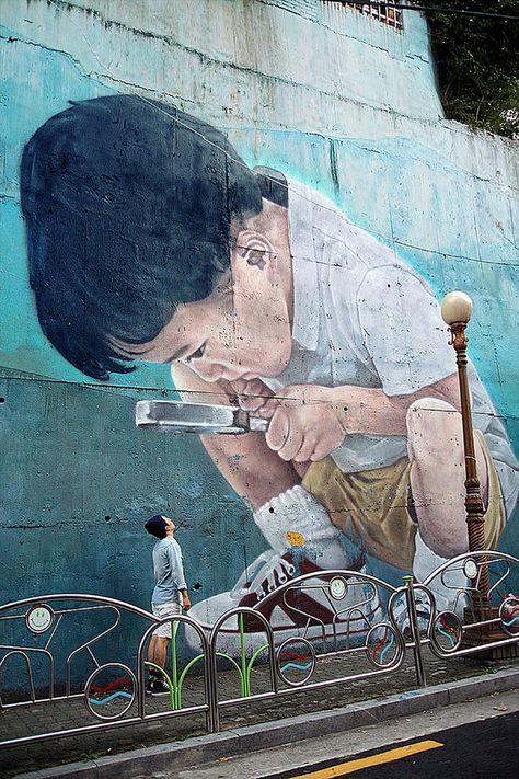 Street Art in Gwanganri, S/Korea