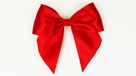How to make a bow I Easy ribbon bow tutorial I Diy