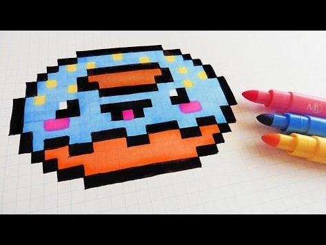 Handmade Pixel Art How To Draw Kawaii Donut Pixelart