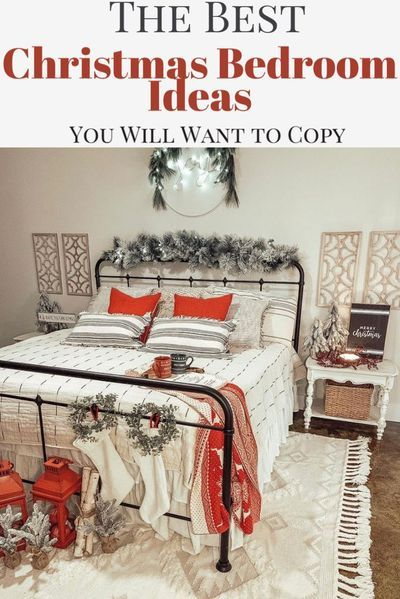 The Best Christmas Bedroom Decor Ideas Christmas Decorations Bedroom Christmas Bedroom Christmas Guest Bedroom