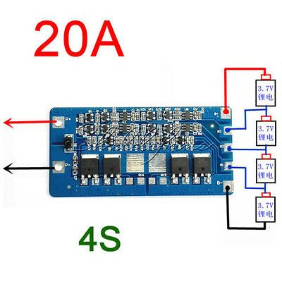 Details About 4s 20a Li Ion Lithium 18650 Battery Bms Protection