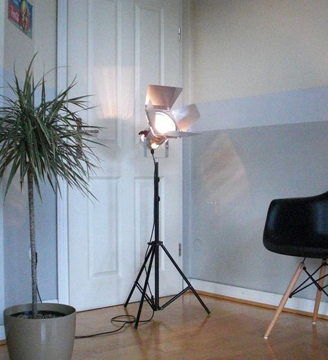 Retro Tripod Film Stehlampe SPOT Studio Set Theater Scheinwerfer Leuchte Lampe | eBay