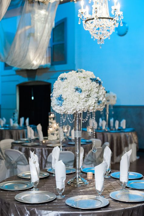 Blue is a perfect color for the most beautiful wedding! #blueweddings #blueweddingideas #blueweddingdecor #bluedecor #weddingideas #mrandmrs #bluediningdecor #denverweddings #coloradoweddings #bellaseraeventcenter #weddingwire #theknott #junebug #weddingdecorideas #blueweddingdecorideas #marriage