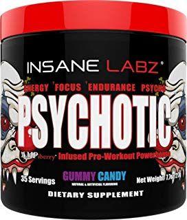 Insane Labz Psychotic Pre Workout Preworkout Workout Fruit Pre Workout Supplement