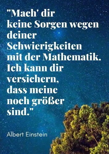 Zitat Albert Einstein Poster Fur Das Mathematik Klassenzimmer Unterrichtsmaterial Im Fach Fachubergreifendes Einstein Zitate Zitate Von Albert Einstein Einstein