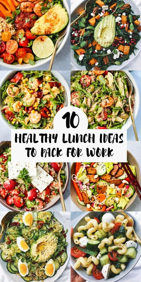 Check out this list of easy packed lunch Healthy Lunch Ideas To Pack For Work & School Healthy Lunches For Work, Prepped Lunches, Healthy Vegetarian Lunch Ideas, Simple Healthy Lunch, Clean Lunches, Heathly Lunch Ideas, Diabetic Lunch Ideas, Health Lunches, Happy Healthy
