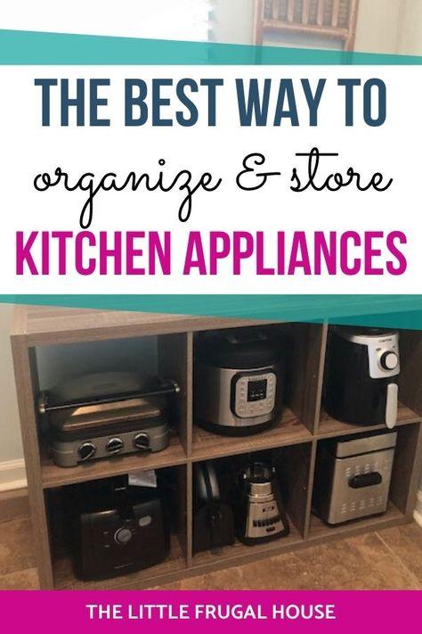 Diy Kitchen Appliance Storage, Small Kitchen Cabinets, Small Kitchen Organization, Big Kitchen, Life Organization, Pot Storage, Storage Shelving, Pantry Storage, Frugal