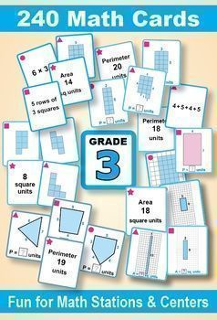 image about Printable Card Games identify Knowing Place and Perimeter: Quality 3 MATH CARD Game titles