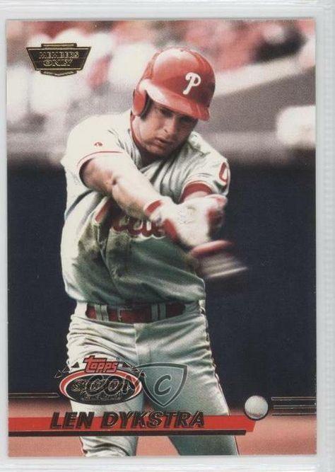 1993 Topps Stadium Club Members Only #477 Lenny Dykstra Philadelphia Phillies #PhiladelphiaPhillies