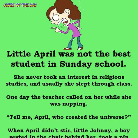 Funny Joke: Little Johnny goes to Sunday school