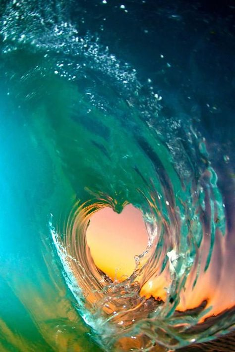 Heart shaped ocean wave from Clark Little Photography