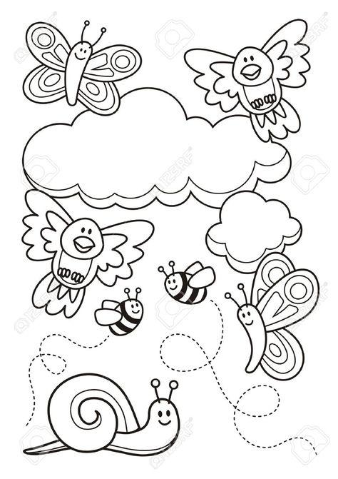 Stock Photo Con Imagenes Caracoles Dibujo Libro De Colores