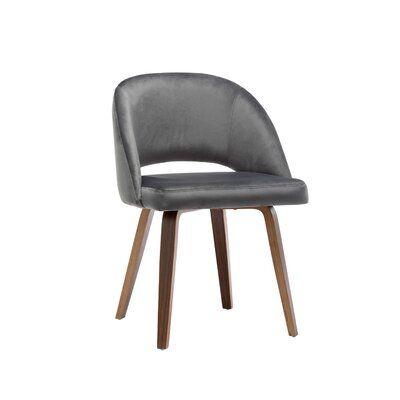 Wrought Studio Aliya Upholstered Dining Chair Wayfair Ca Upholstered Dining Chairs Fabric Dining Chairs Modern Fabric Dining Chairs