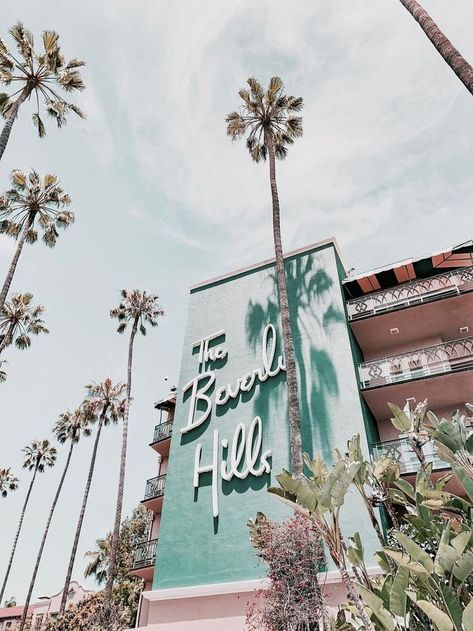 beverly hills / los angeles, california Art Print by mauikauai Collage Mural, Bedroom Wall Collage, Photo Wall Collage, Photo Collages, Aesthetic Backgrounds, Aesthetic Iphone Wallpaper, Aesthetic Wallpapers, Blue Pictures, Room Pictures
