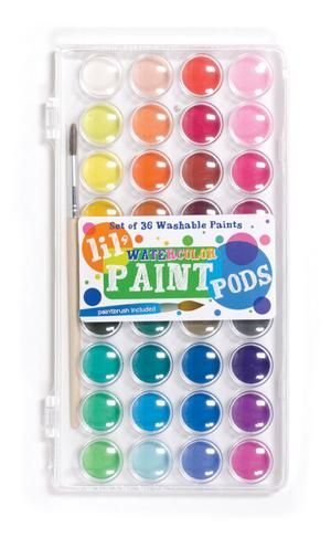 Ooly Lil Watercolor Paint Pods Painted Sticks Washable Paint