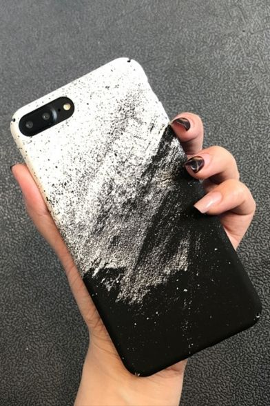 Simple Basic Sand Painting Print Frosted Mobile Phone Case Phone