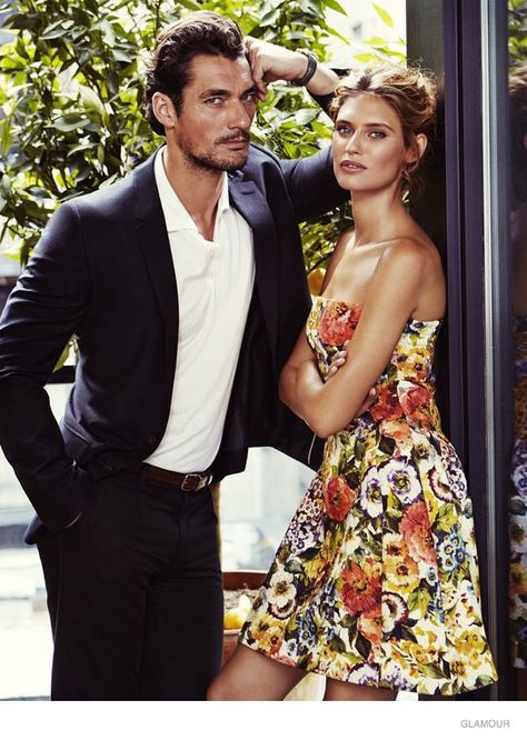 bianca balti david gandy glamour1 Bianca Balti Poses for Glamour, Talks Womens Beauty Trends with David Gandy