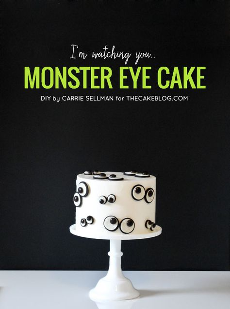 {oreos & m&m's make this so simple!}  DIY Monster Eye Cake  | by Carrie Sellman  |  TheCakeBlog.com