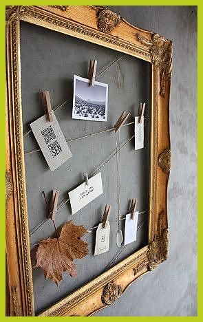 Prepare An Old Frame To Hang Photos And Memories Diy Jewelry