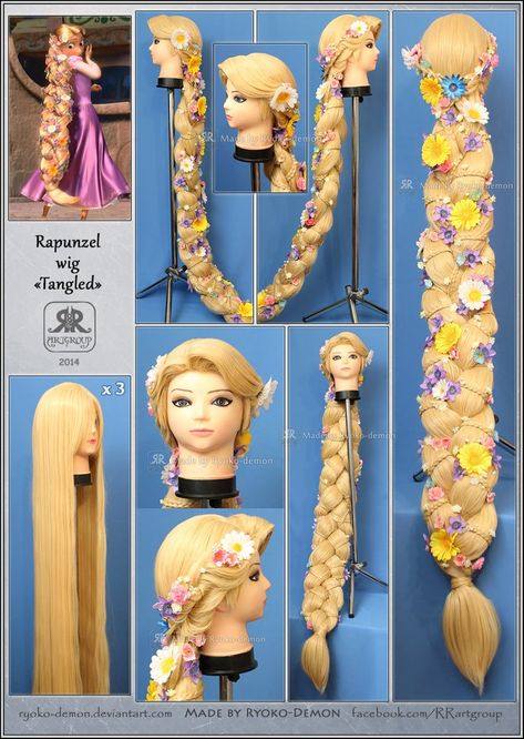 Rapunzel Wig Video-Tutorial PART 1 braid | Etsy
