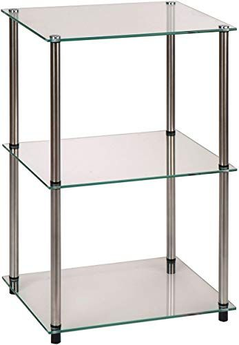 Convenience Concepts Designs2go 3 Tier Glass Display Entryway Table Glass Check This Awesome Product By G In 2020 Glass Entryway Table Glass Table Entryway Tables