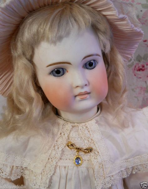 Belton-Type Antique Bisque Doll, So Pale and Pretty!