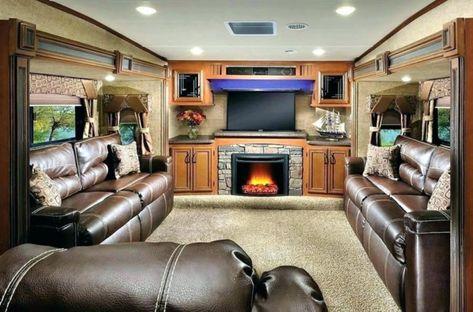 Beautiful Rv Living Room With Fireplace Ideas Desain Interior