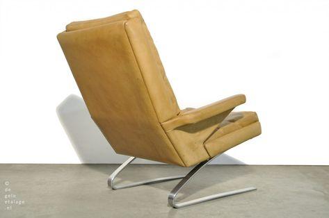 A.R. Cordemeijer Gispen jaren 60 lounge fauteuil 1450