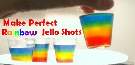 Rainbow Jell-O shots are a perfect treat to serve at any rainbow-themed party, especially Gay Pride parties!