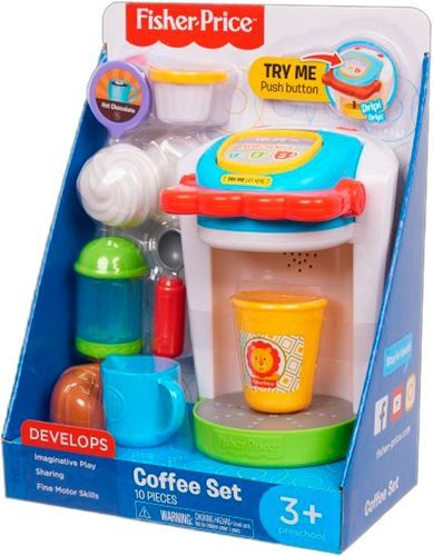 Best Buy Fisher Price Coffee Maker Play Set 93550 Fisher Price Fisher Coffee Set