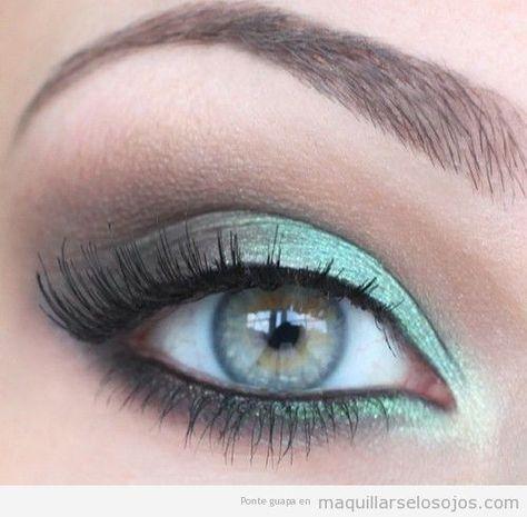 maquillaje para ojos verdes grses