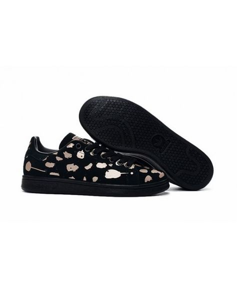Adidas Stan Smith Suede Black Rose Gold Trainers  79c780988